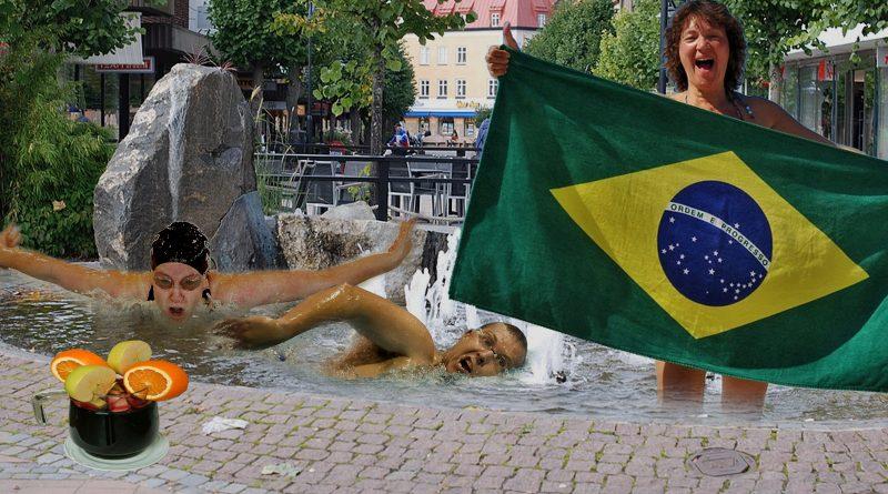 Resetips: Vårdopp i Katrineholms vackraste fontän – badklåda och sangria för hela familjen